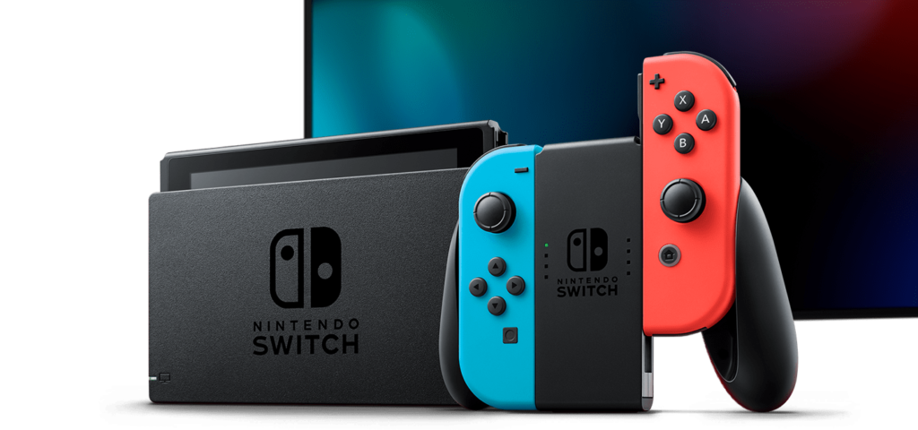 Nintendo Switch console and joy-cons