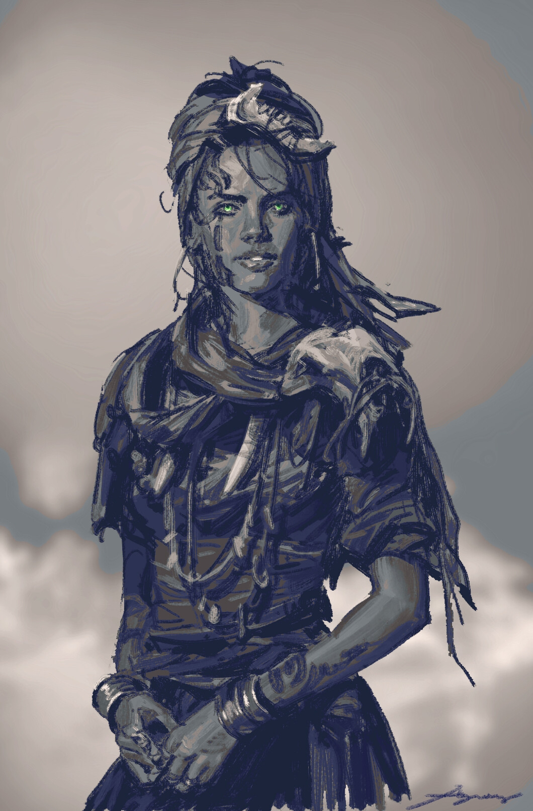 Fantasy concept art from Naughty Dog employee