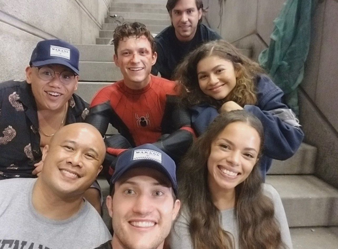 Spider-Man: No Way Home Filming Wrapped Set Photo