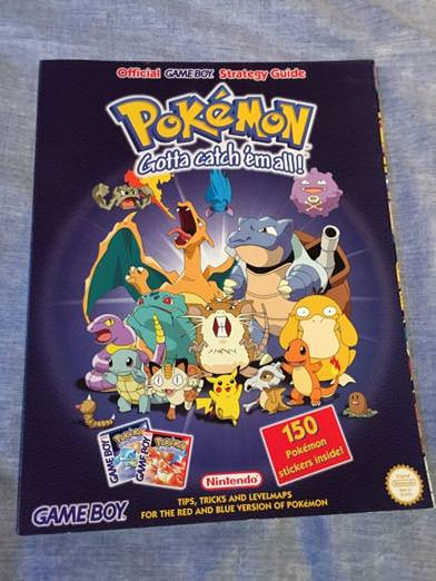 pokemon red/blue strategy book