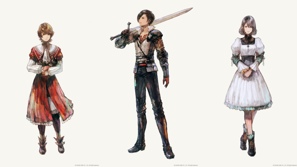 Final Fantasy 16 feature yoship deveopment tgs article characters Clive Joshua Rosfield Jill Warrick official artwork