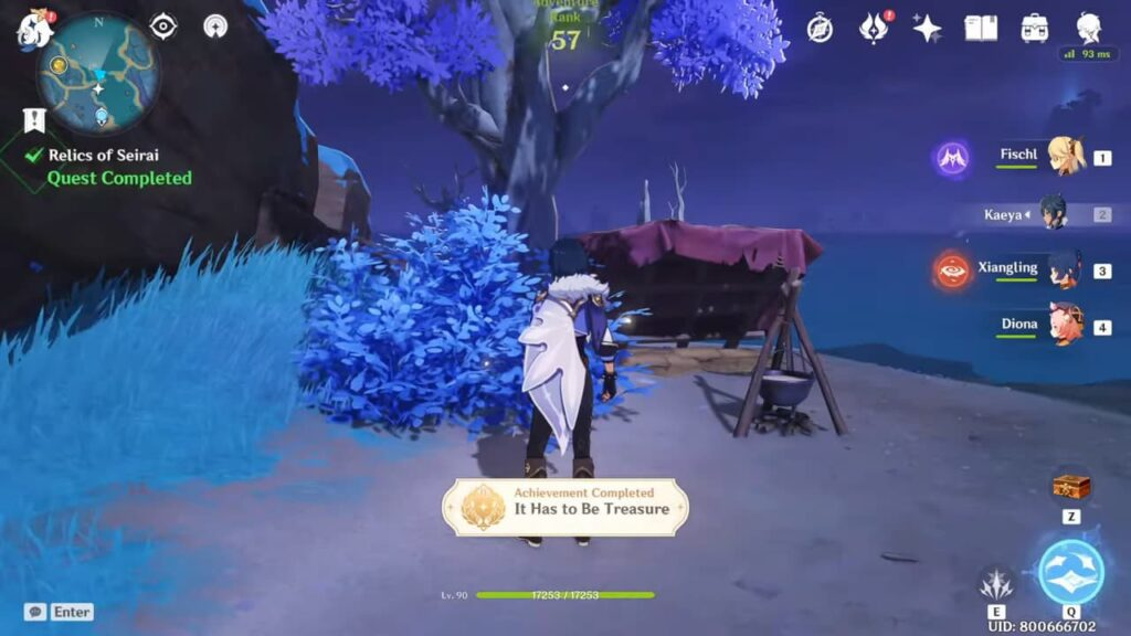 Getting the 'It has to Be Treasure' hidden achievement